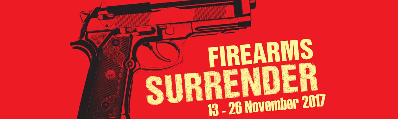Firearm surrender banner