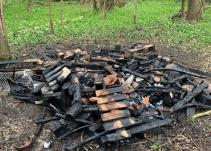Bug hotel destroyed by arson attack