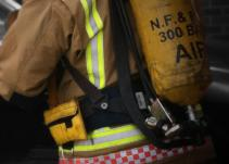 Fireman on scene